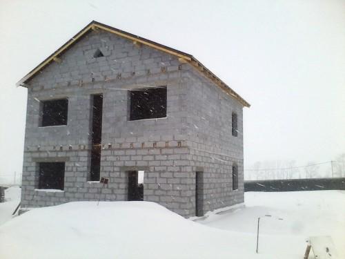 Дом из твинблока своими руками фото